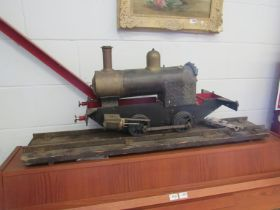 """A live steam 5"""" gauge scale model steam locomotive presumed to be modelled on a LBSC 'Tich',"""
