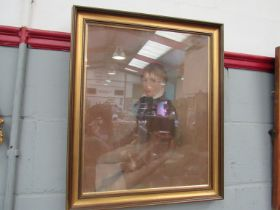 A late 19th Century pastel portrait of a boy, gilt framed and glazed. Unsigned.