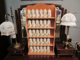 """A quantity of """"The Flower Fairy"""" spice jars by Gresham Marketing with rack"""