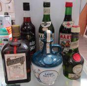 Martini Rosso, Martini Extra Dry, Captain Morgan's Rum, Cointreau 1ltr, D.O.