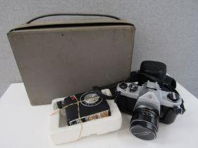 An Asahi Pentax SP500 SLR camera with 55mm lens,