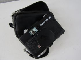 A Rollei 35 LED 35mm compact camera with case