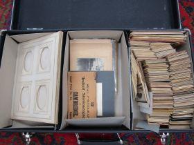 "A case containing a collection of ""Carte de Visite"" photographs and album sheets"