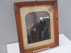Three Victorian ambrotype portrait photographs and another larger (4)