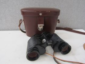 A pair of Carl Zeiss Deltrintem binoculars 8x30 with leather case