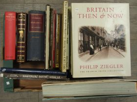 """A collection of photography reference books including """"Britain Then & Now"""" and """"1000 Photo Icons"""""""