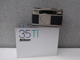 A Nikon 35Ti film camera, Japanese,