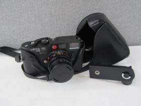 A Leica M6 rangefinder camera with black body, Summicron 50mm lens, serial no.