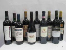 10 bottles of red wine including 1996 Foderoc Bergerac, 2006 Barolo, 2000 Mapa Merlot,