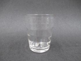 "A late 18th Century clear glass ""Lynn beaker"","