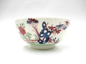 "A Lowestoft porcelain ""Green Redgrave"" pattern slop bowl,"
