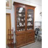 A Victorian mahogany full height bookcase,