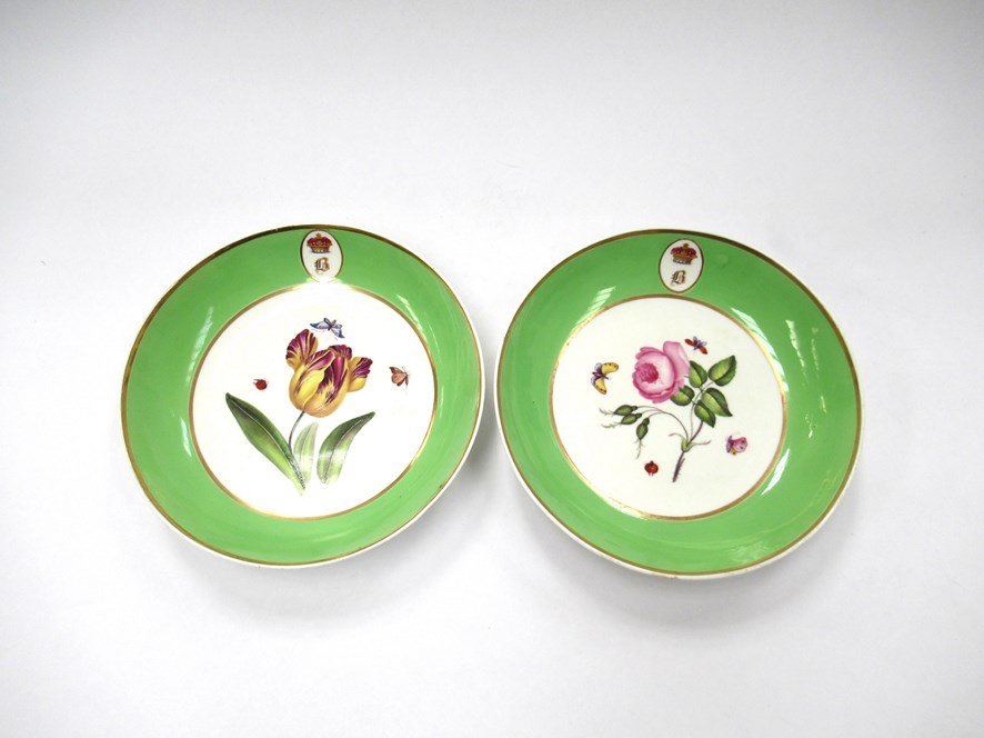 A pair of Bloor Derby saucers,