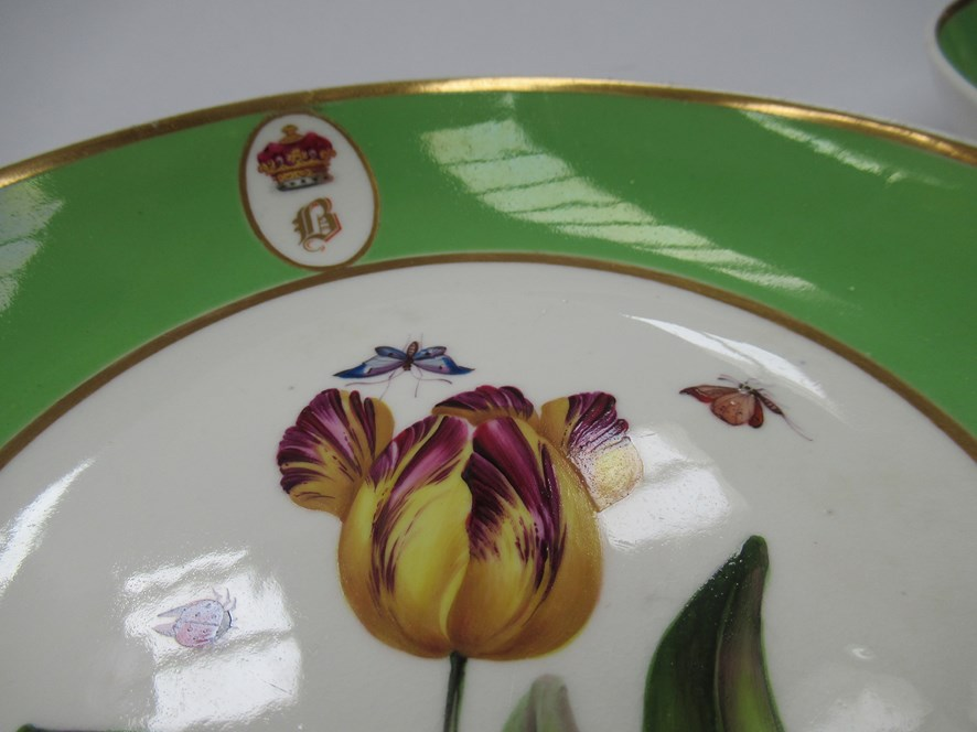 A pair of Bloor Derby saucers, - Image 2 of 6