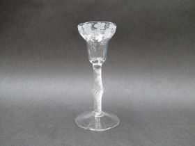 A mid 18th Century wine glass,