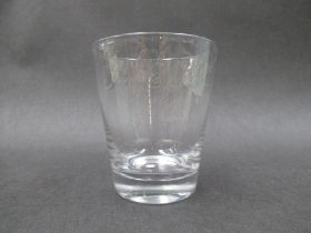 An early 19th Century commemorative beaker of flared cylindrical form,