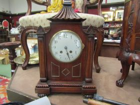 A Victorian bracket clock with a French movement,