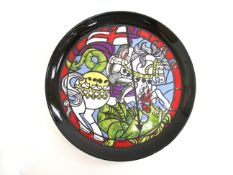 A Poole Pottery limited edition St George plate designed by Tony Morris, painted by C.F William. No.