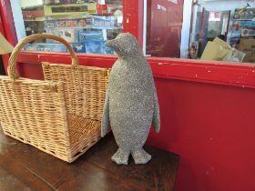 A figure of a penguin
