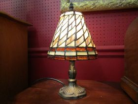 A pair of Tiffany style table lamps,