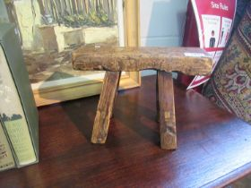 An African stool and another stool