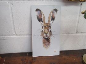 RYAN: An Acrylic on board of a hare, signed lower right,