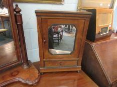 A Victorian table top miniature apprentice piece wardrobe,