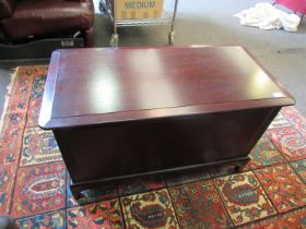 A Stag mahogany blanket chest,