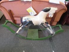 An early 20th Century rocking horse,