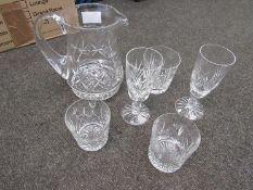 Crystal glass decanter, jug,