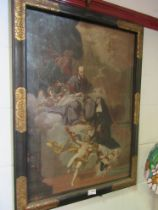 A 17th Century religious oil on canvas, 75cm x 51cm,