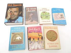 Dirk Bogarde, five UK 1st editions, including 'Snakes & Ladders', 1978, 'West of Sunset', 1984,