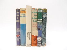 Agatha Christie, 6 titles, including Collins Crime Club 1st editions of 'Crooked House', 1949,