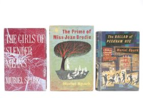 Muriel Spark, 3 titles: 'The Prime of Miss Jean Brodie', London, Macmillan, 1961, 1st edition,