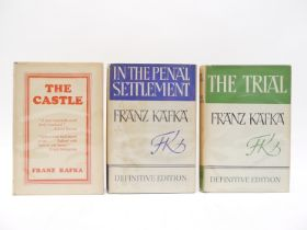 Franz Kafka, 3 titles: 'In The Penal Settlement', 1949, 1st UK edition, 'The Trial', 1950,