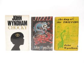 John Wyndham: 'Chocky', London, Michael Joseph, 1968, 1st edition, plus 2 others a/f,
