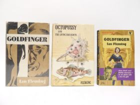 Ian Fleming, three titles: 'Octopussy and the Living Daylights,' London, Cape, 1966, 1st edition,