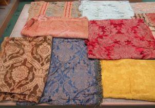 A good quantity of 18th, 19th and early 20th Century silks, woven textiles,