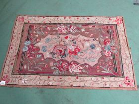 Late 19th/early 20th Century large Folk Art American Hooked rug, proffesionaly cleaned and restored,