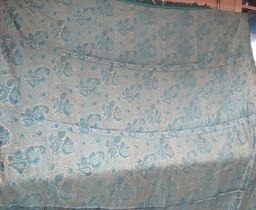 """An extremely beautiful 18th Century """"Bizarre"""" silk 180cm x 210cm approx, tones of blue."""