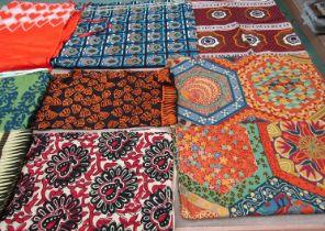 A significant quantity of striking African prints, Mali, Kenya & Niger etc,