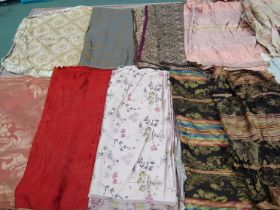 A good quantity of attractive 18th, 19th and early 20th Century silks, jacquard and damasks,