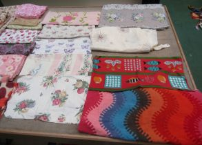 An abundance of mainly 1960's Apparel swatches in various colours