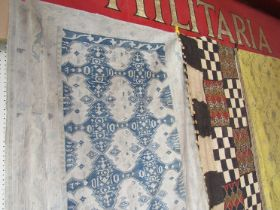 An 18th Century early 19th Century very rare Taureg or Berber flat weave rug,