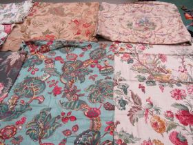A considerable quantity of wonderful early to mid 20th Century large scale floral design,