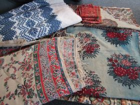 Persian and Indian block prints,