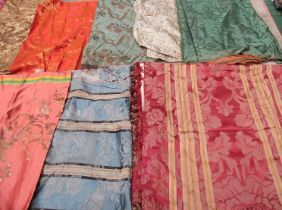 An abundance of 18th, 19th, and early 20th Century silks, jacquard and damasks. various sizes.