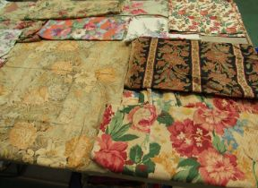 Late 19th Century through to early/mid 20th Century large scale florals, cotton, chintz,