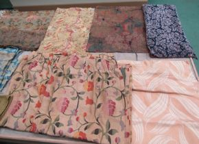 Reputedly a piece of Voysey textile, some fading, and an assortment of wonderful tapestries,