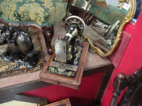 A decorative Singer sewing machine
